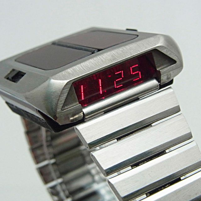 the first solar powered watch was funky and far ahead of its time gear patrol lead full