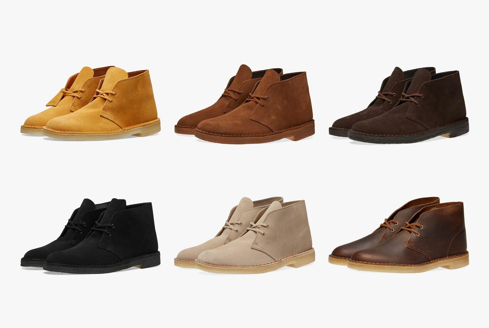 clarks desert boots cola suede sale