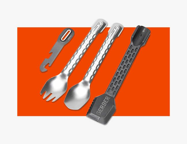hiking,and backpacking for camping spoon,fork,and tongs Sprongs- Utensil set