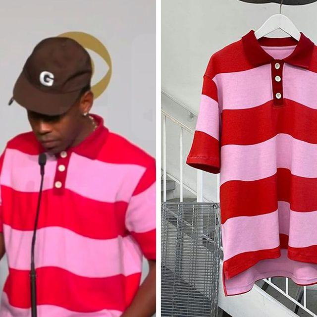 Tyler, the Creator Won His First Grammy Wearing This Custom Polo Shirt •  Gear Patrol