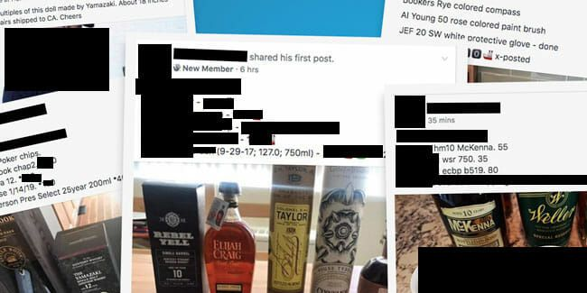 Inside The Dying World Of Facebook S Whiskey Black Markets The Best Place To Buy And Sell Rare Bourbon