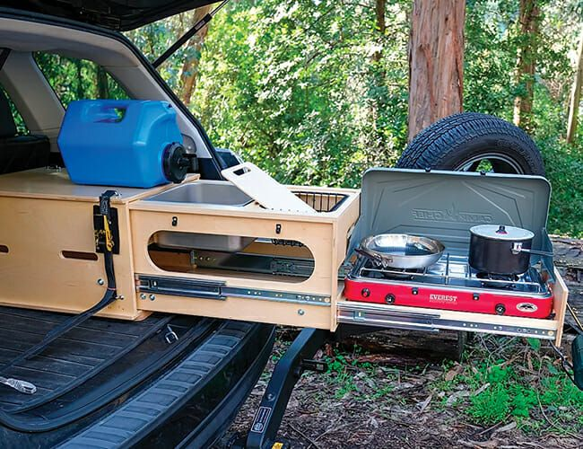 This Pull Out Kitchen Turns Almost Any Suv Into A Great Car Camper