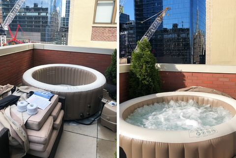 I Panic Bought A 370 Inflatable Hot Tub For My Nyc Apartment
