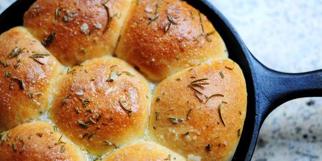 Buttered Rosemary Rolls