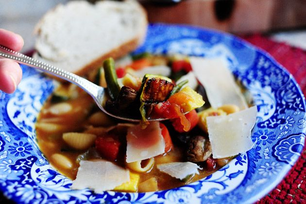healthy soup recipes roasted vegetable minestrone