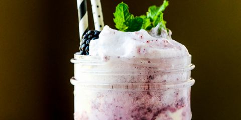 Blackberry Soda Float on The Pioneer Woman: Food & Friends. (Recipe and post from Jessica Merchant of How Sweet It Is)