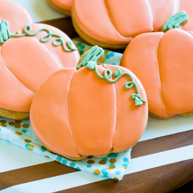 Spiced Pumpkin Decorated Cookies