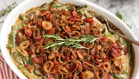 Best Green Bean Casserole With Bacon And Fried Shallots Recipe