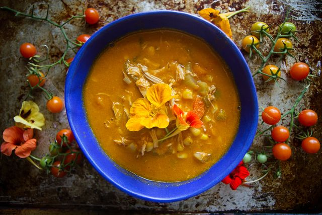 Tomato Chicken Vegetable Soup