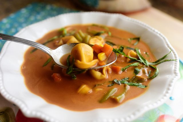 healthy soup recipes veggie tortellini soup