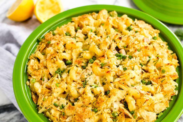 Sour Cream and Onion Tuna Noodle Casserole