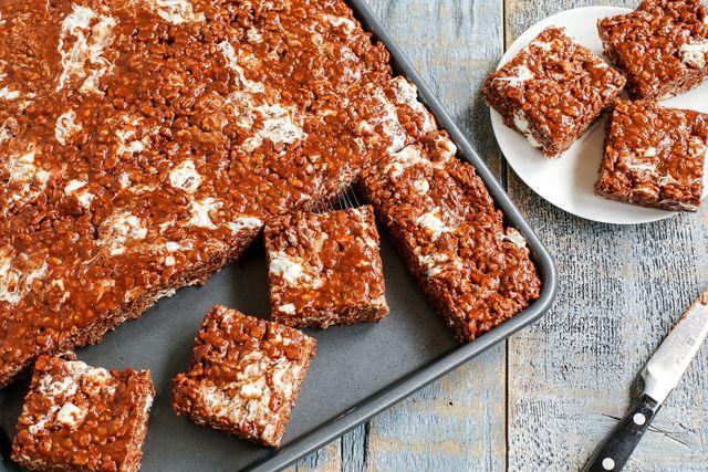 Extra-Marshmallow Chocolate Peanut Butter Rice Krispies Bars