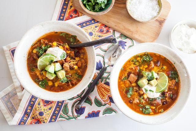Pressure Cooker Southwest Chicken Soup