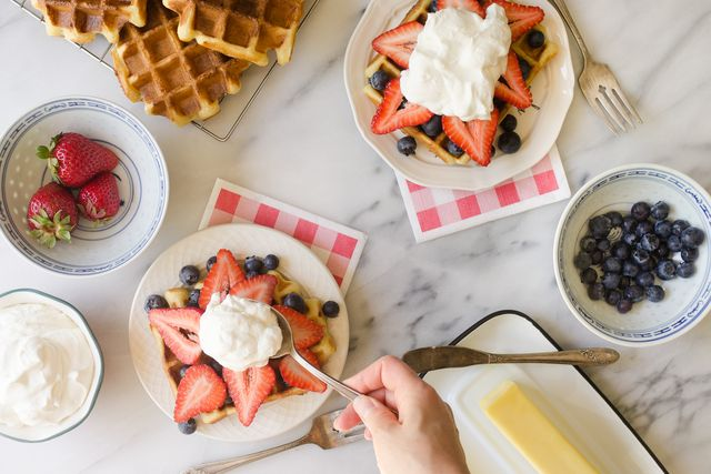Red, White and Blue Waffles