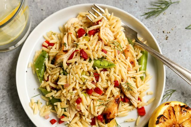 Grilled Chicken and Lemon Orzo Salad