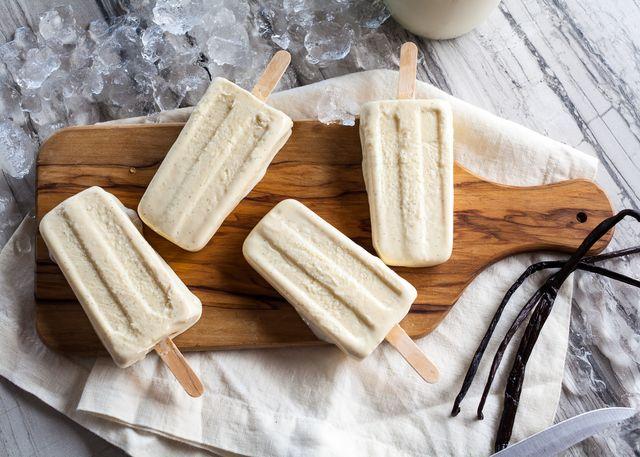 Creamy Vanilla Bean Popsicles