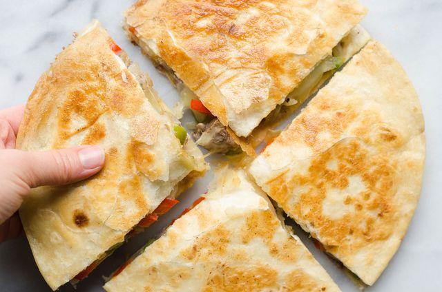 Cheesesteak Quesadillas