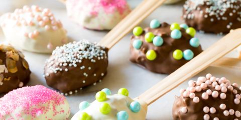 Easter Chocolate Coconut Truffle Spoons