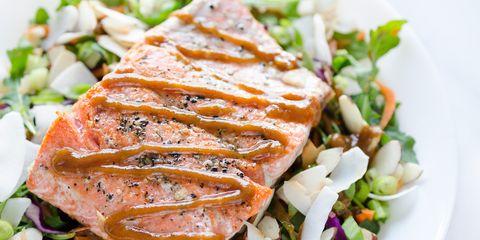 Thai-Inspired Peanut Salmon Salad