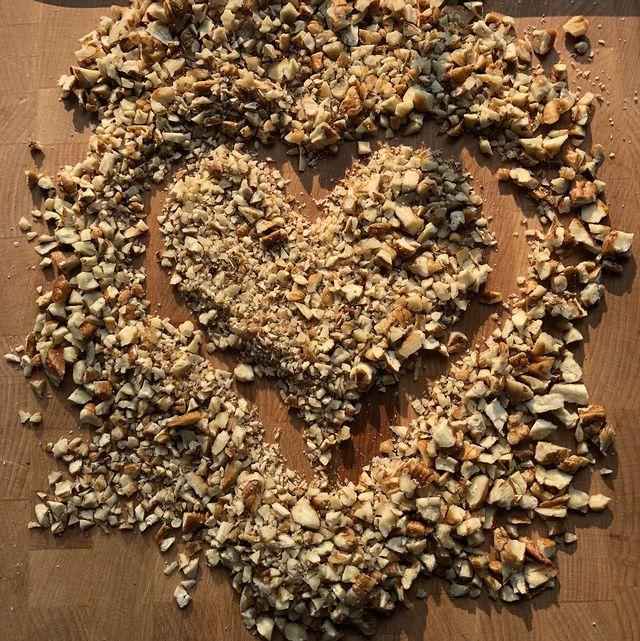 nuts shaped like a heart