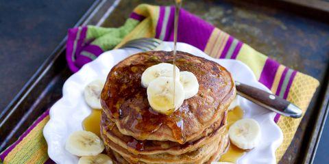 best pancake toppings pb and j banana pancakes