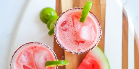 Watermelon Margarita Mocktails overhead