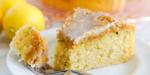 Lemon Zucchini Coffee Cake piece side