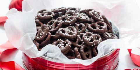 Dark Chocolate Covered Pretzels 16