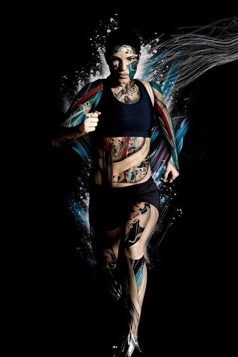 Flash photography, Graphics, Fashion model, Graphic design, Latex clothing,