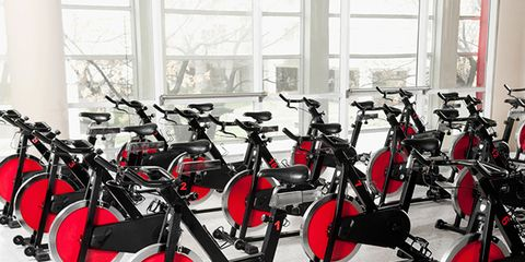 Exercise machine, Stationary bicycle, Exercise equipment, Indoor cycling, Carbon, Gym, Daylighting, Bicycle saddle, Collection,