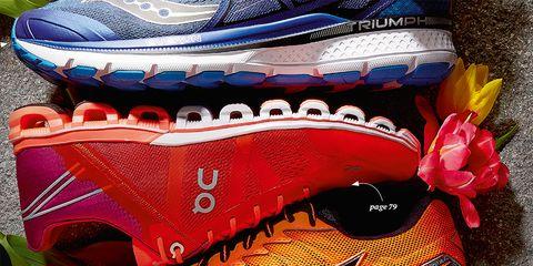 Footwear, Shoe, Orange, Pink, Running shoe, Outdoor shoe, Athletic shoe, Walking shoe, Sneakers, Magenta,