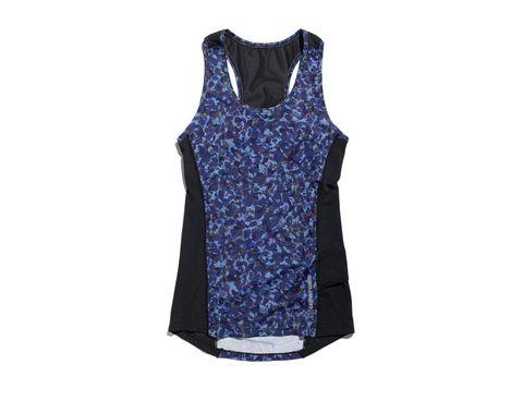 Clothing, Blue, Sleeveless shirt, Cobalt blue, Product, Sportswear, Active tank, Outerwear, Dress, Jersey,