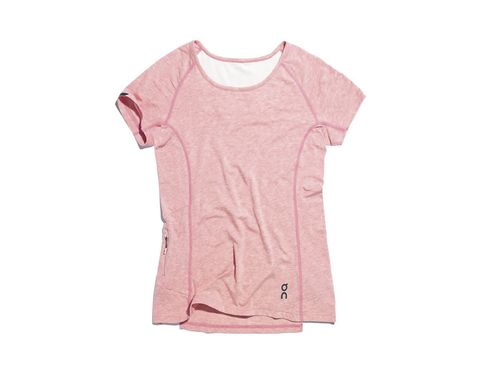 Clothing, T-shirt, Pink, Sleeve, Product, Top, Active shirt, Sportswear, Neck, Peach,