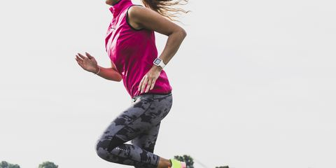 Jumping, Pink, Recreation, Fun, Grass, Happy, Footwear, Sports, Cool, Photography,