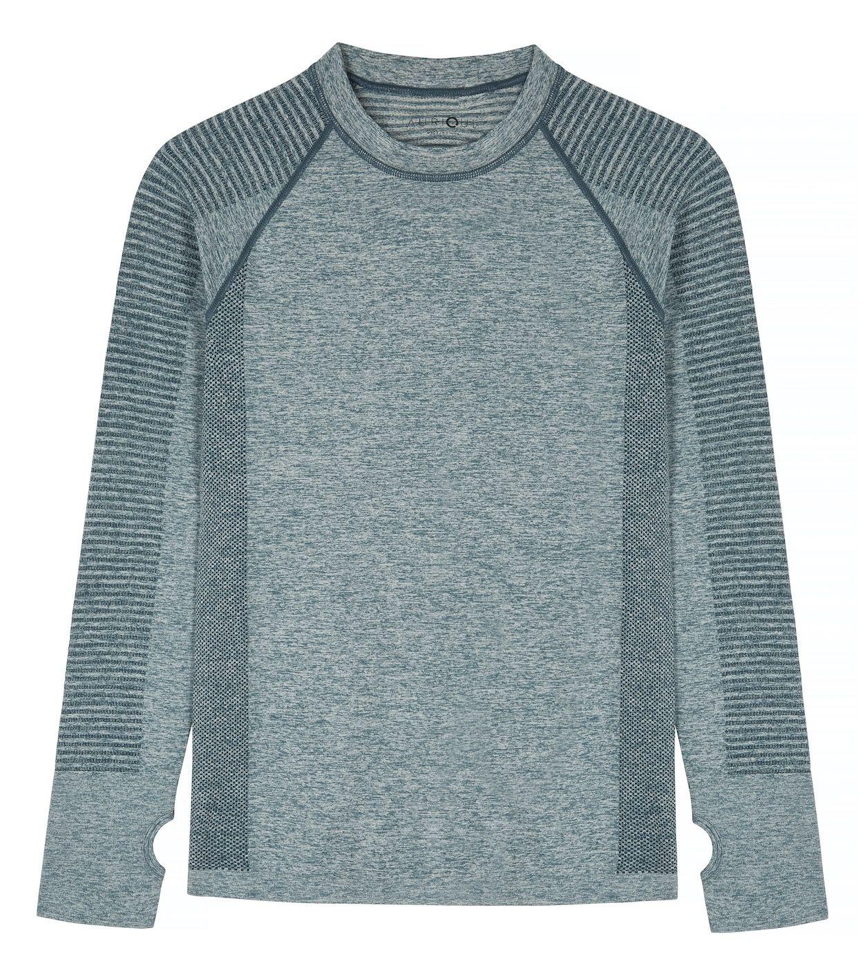 AURIQUE Womens Seamless Mesh Long Sleeve Sports Top Brand