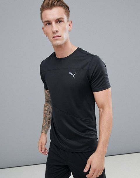9fa765cfc05f7 A simple, crew neck, short sleeved running top. Made from sweat-wicking  material, with flatlock seams to avoid chafing and reflective elements.