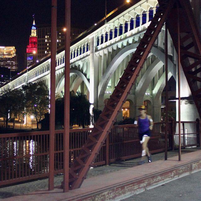 metropolitan area, night, bridge, urban area, landmark, metropolis, city, iron, skyway, lighting,