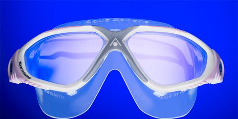Eyewear, Goggles, Vision care, Blue, Diving equipment, Personal protective equipment, Light, Azure, Electric blue, Eye glass accessory,