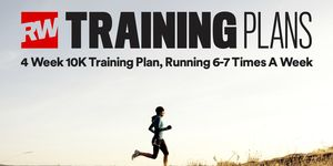 4 week 10K training plan running 6-7 times a week