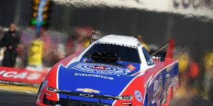Robert Hight celebrated the 10th anniversary of his first Funny Car championship with a third career title on Sunday at Pomona.