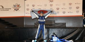 Takuma Sato found redemption in the backdrop of St. Louis on Saturday night.