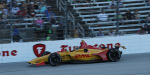 Ryan Hunter-Reay led the most laps in the DXC Technology but that ultimately proved to be his undoing.