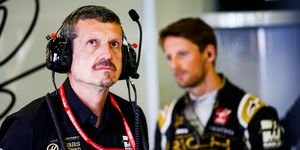Team principal Guenther Steiner, left, has been with the Haas F1 Team since the team was formed.