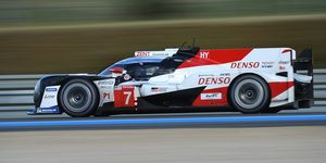 Toyota Gazoo Racing claimed the top two qualifying sports for Saturday's 24 Hours of Le Mans.