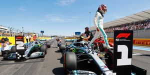 Lewis Hamilton will start Sunday's F1 French Grand Prix from the pole.
