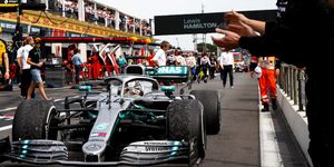 Lewis Hamilton extended his points lead with the win in France on Sunday.