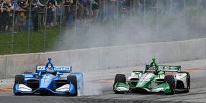 Felix Rosenqvist, left, and Colton Herta, right, finished 1-2 in the NTT IndyCar Series Rookie of the Year chase.