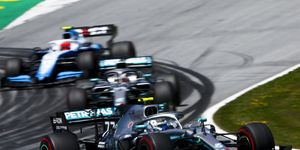 After a penalty, Lewis Hamilton will start fifth in Austria Sunday.