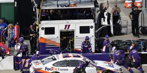 """Denny Hamlin was left frustrated at NASCAR following a """"nickel and dime"""" penalty judgment call on Sunday at Chicagoland Speedway."""