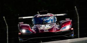 Mazda's No. 55 DPi scored the manufacturer's first win in the IMSA WeatherTech SportsCar Series on June 30 at Watkins Glen.